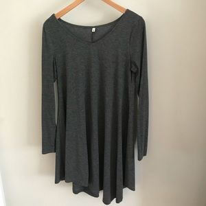 Dresses & Skirts - Long Sleeve Grey Dress.